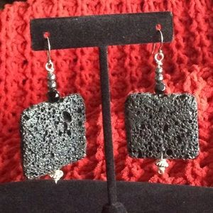 Handmade Lava earrings